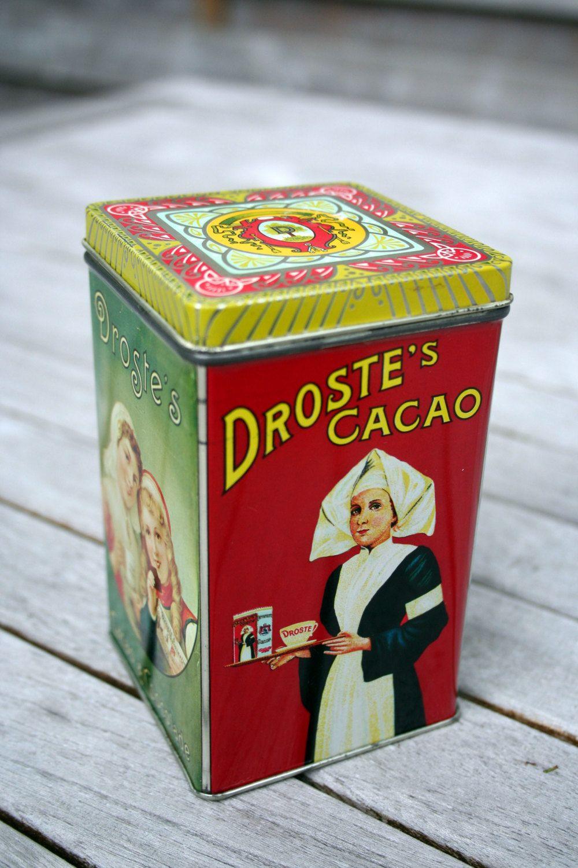 Dutch Vintage Antique Chocolate Cacao Tin Box Storage Avertisement Dairy Milk. €9.00, via Etsy.