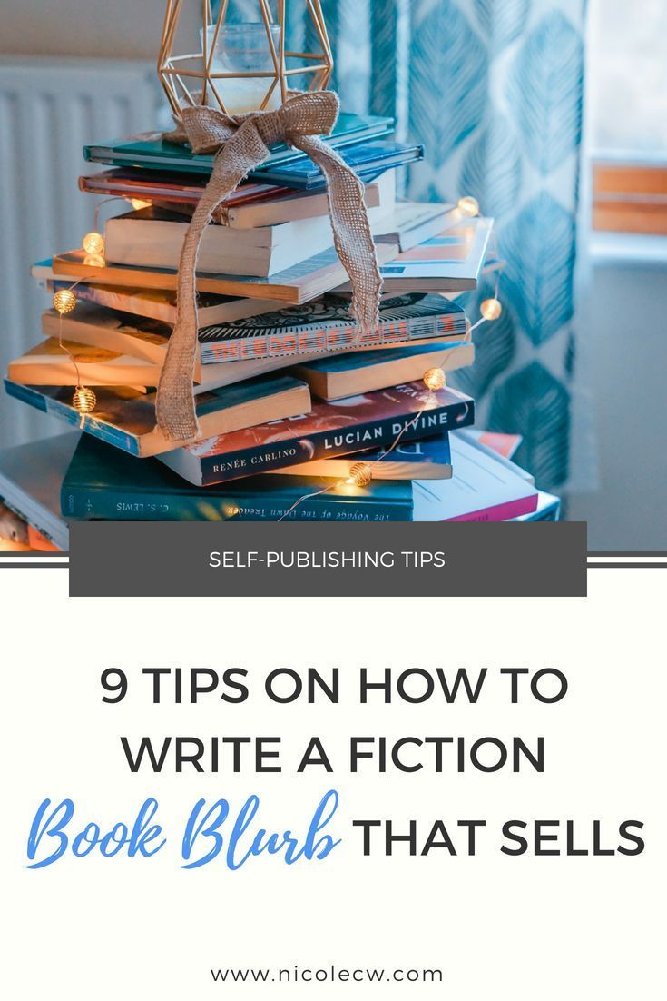 9 tips on how to write a fiction book blurb that sells