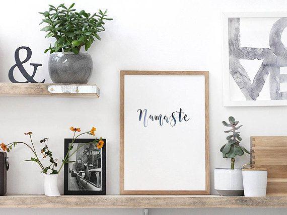 Yoga Namaste art print. Yoga studio decor. Namaste wall art ...