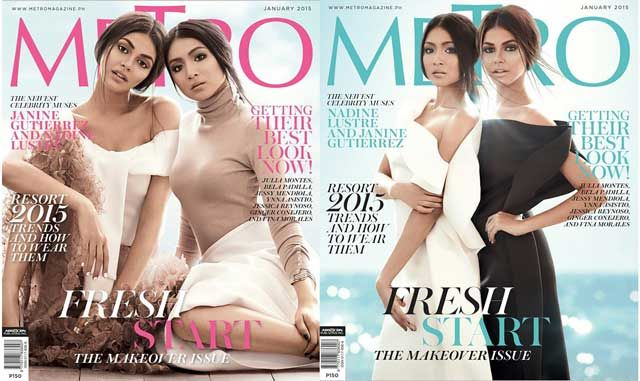 Nadine vs Janine on Metro Magazine Covers