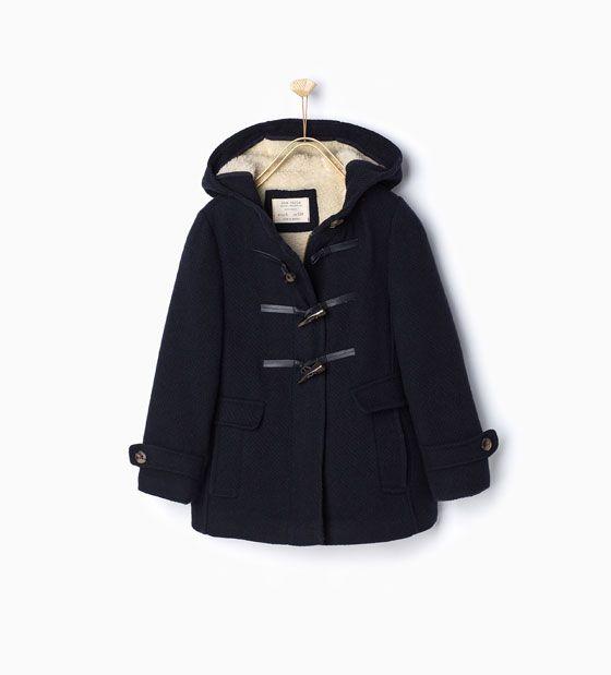 7f407e62 Fleece duffle coat | Zara | {my little girl} | Zara kids coats, Zara ...