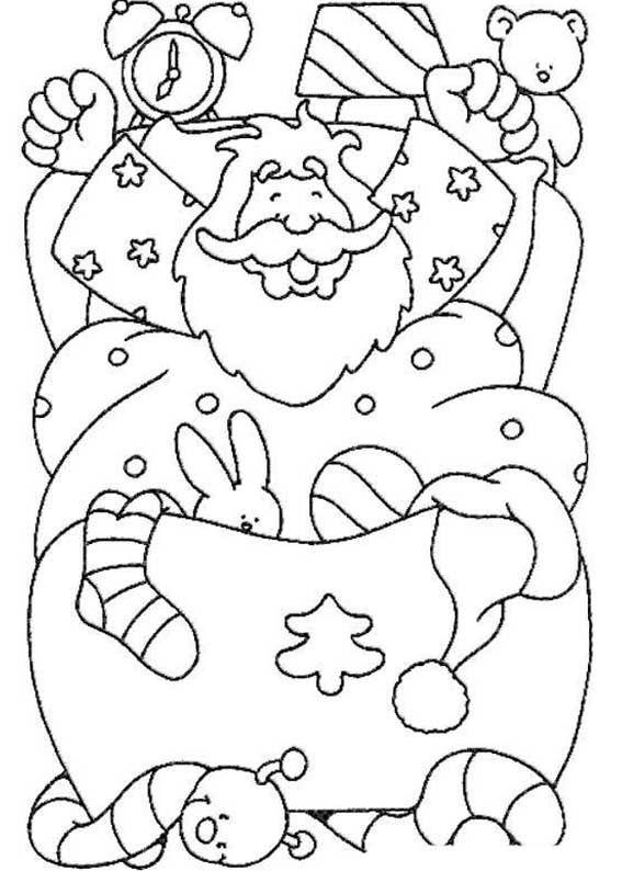Desenhos De Papai Noel Para Colorir Papai Noel Para Colorir