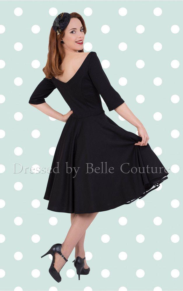 50er Jahre Jerseykleid Audrey Herbst Winter Dawanda Kleider Kleidung Kleider