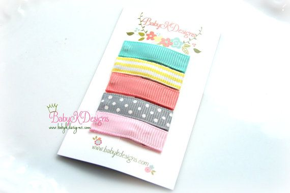 Simple Infant Clips / Baby Hair Clip. Baby K Snap by BabyKDesigns