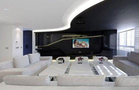 Futuristic black and white apartment interior design ideas apartment interiors