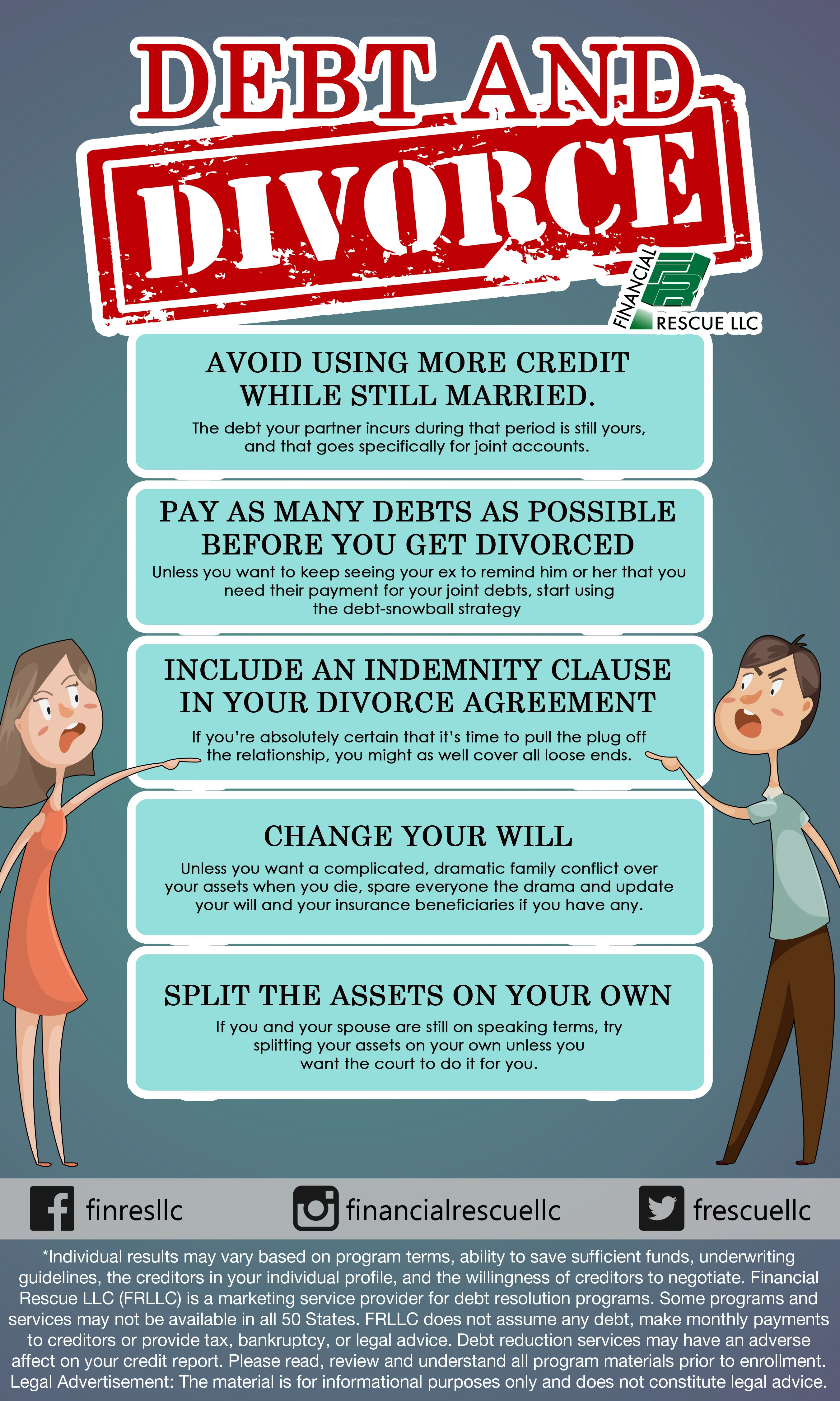 Debt And Divorce Millennial Credit Card Money Pay Debt Infographics Infographic Infographics Finance P Divorce Finances Finance Infographic Divorce