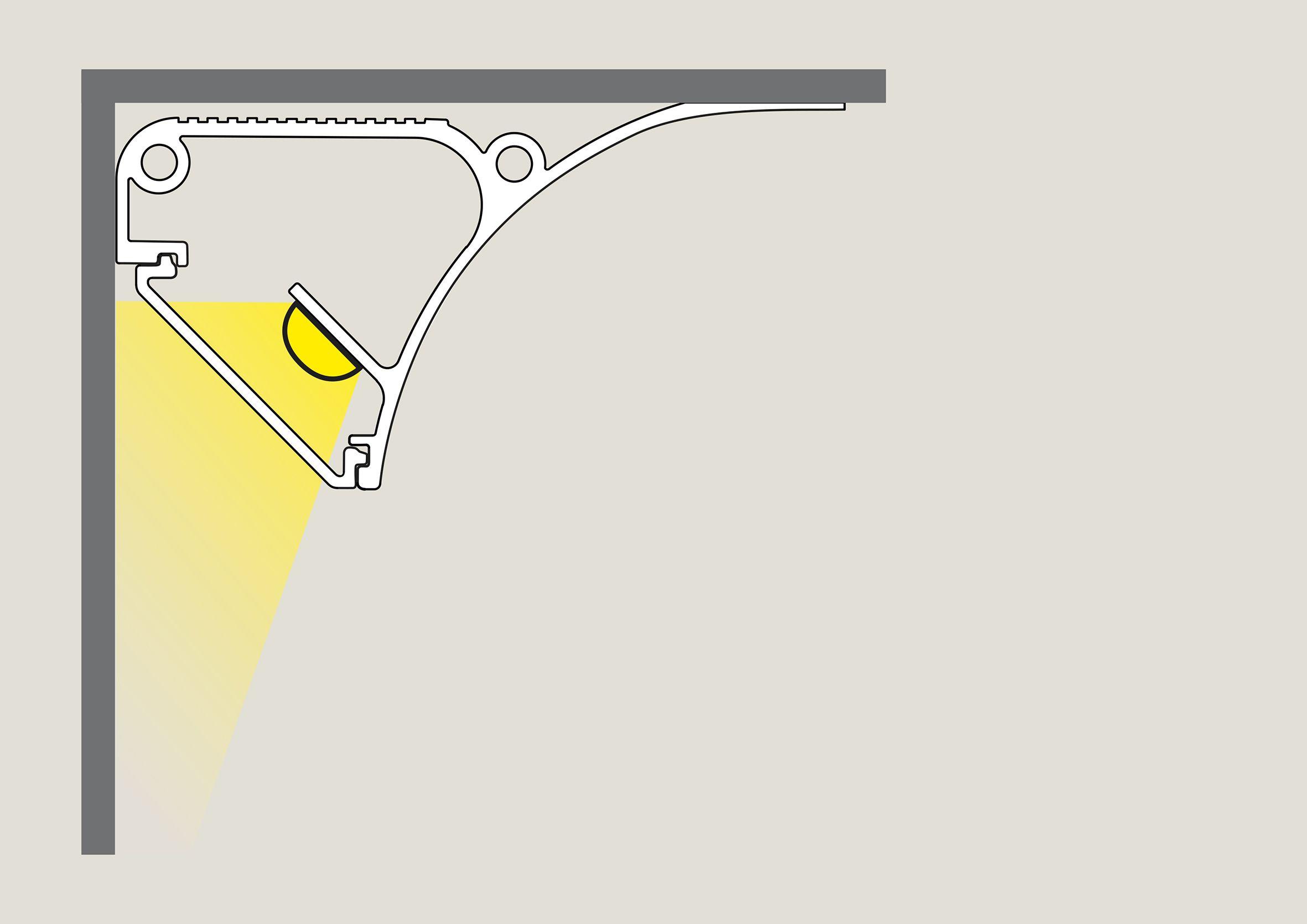 Led Licht In Profilen An Wand Decke Im Boden Oder Mobeln Beleuchtung Decke Led Licht Licht