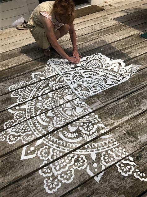 Mandala-Schablonen Holy Mandala D.I.Y. stellen sie ihr eigenes mandala her www.mandala-stenc #diyoutdoorprojects