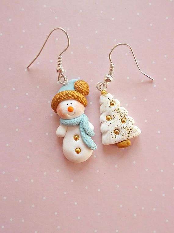 Snowman Earrings - Christmas Gifts- Secret Santa Gift Ideas - Winter earrings - Xmas jwellery - Christmas Gift for girlfriend