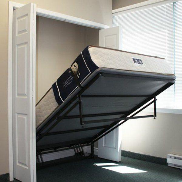 metall gestell Schrankbett selber bauen verwenden Büro