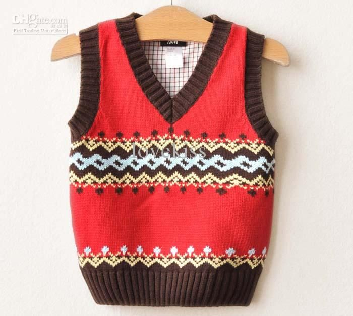 Knitting Vest Pattern For Child : Wholesale baby woolly vest children sweaters knitting