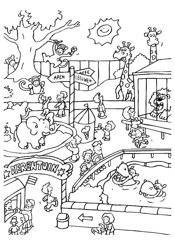 Print Coloring Image Momjunction Zoo Animal Coloring Pages Zoo Coloring Pages Animal Coloring Pages