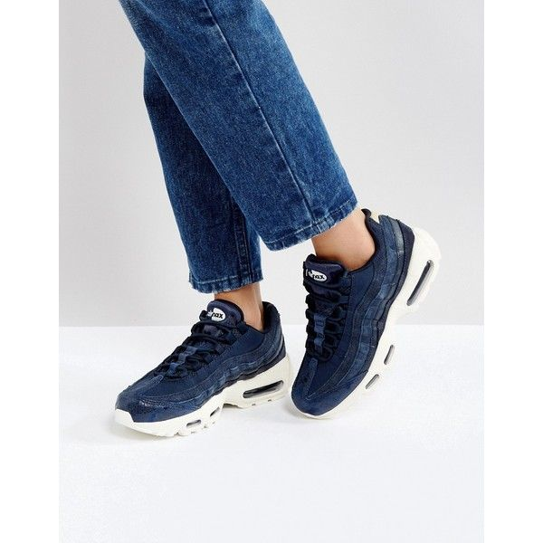 Nike Air Max 95 Premium Trainers In Navy (€170) ❤ liked on ...