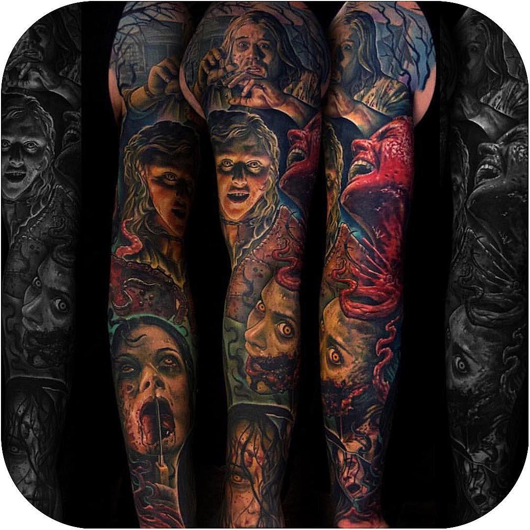 Evil Dead Tattoo Sleeve