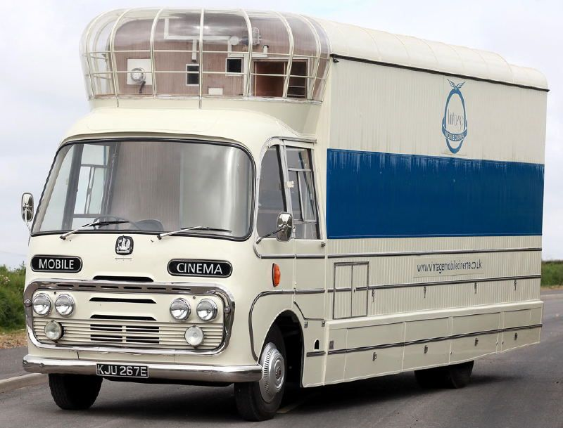 Mobile Cinema British Government 1960 S Cinema Bus Movie Theater