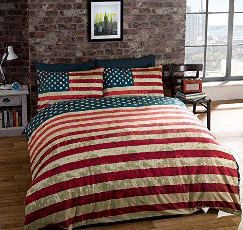 Robot Check Americana Home Decor American Flag Bedroom