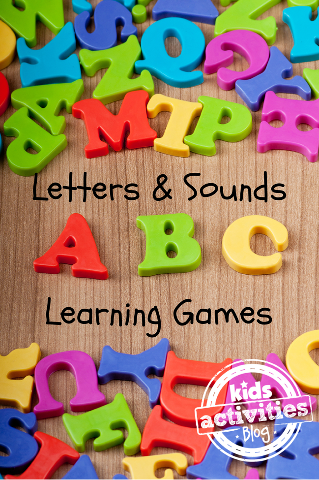 35 Letters and Sounds Learning Games Learning games for