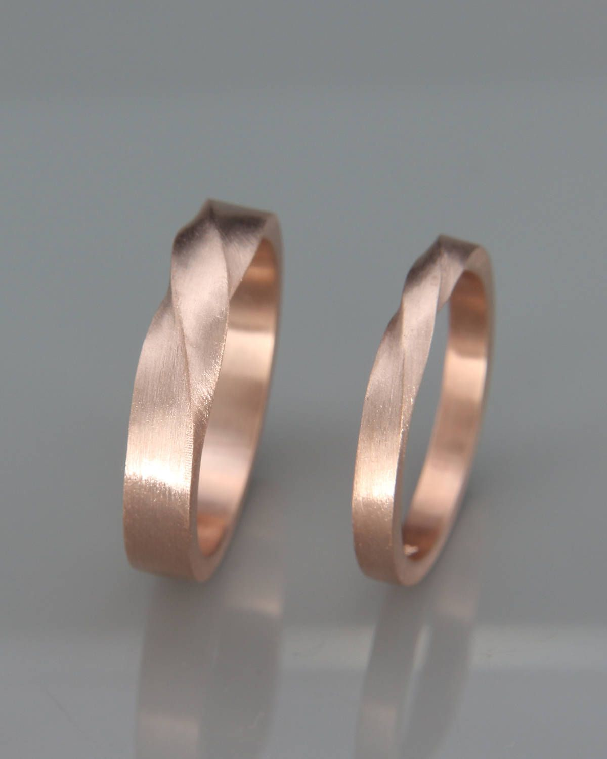Photo of Matching Mobius wedding rings | His and Hers Mobius Wedding Rings Set | 1