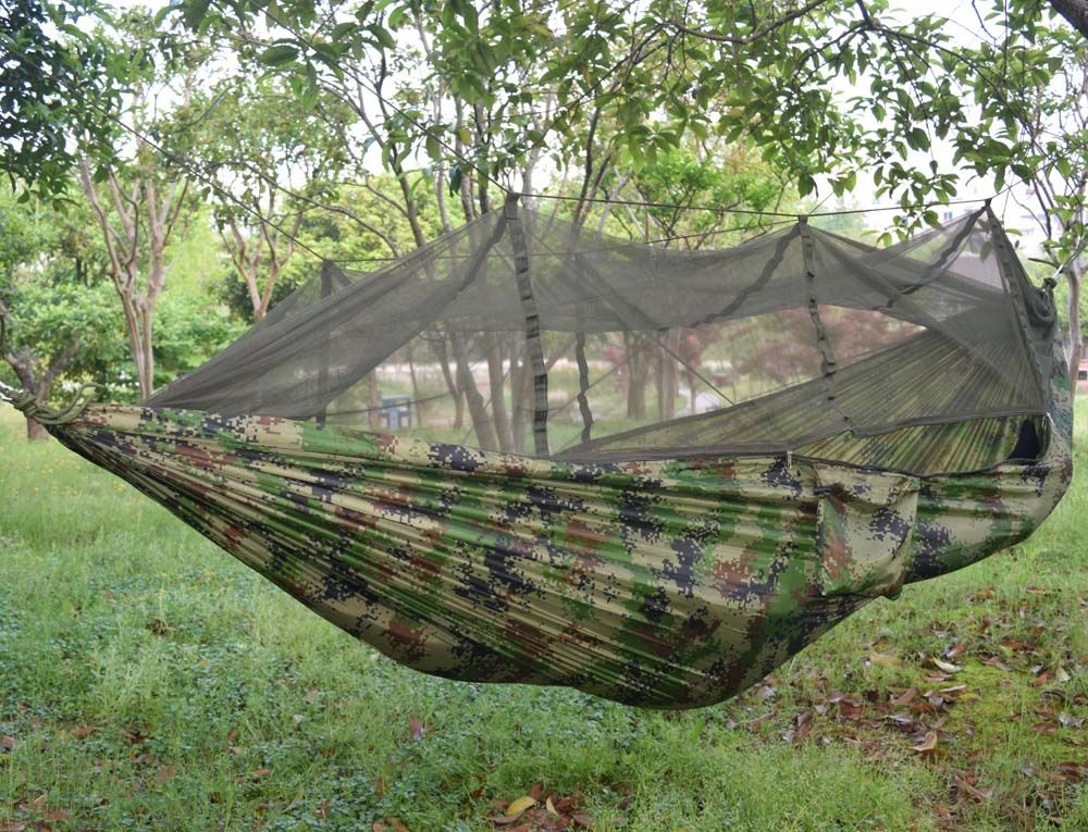Double Parachute Mosquito Net Hammock Chair Tourism Flyknit Hammock Rede Garden Swing Camping Hammock Sleeping Hamac With Images Hammock Hammock Camping Tree House