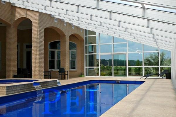 Pa Pool Enclosures Spa Encl Sunrooms Retractable Manufacturer Phily Glass Residential Pool Pool Enclosures Swimming Pool Enclosures