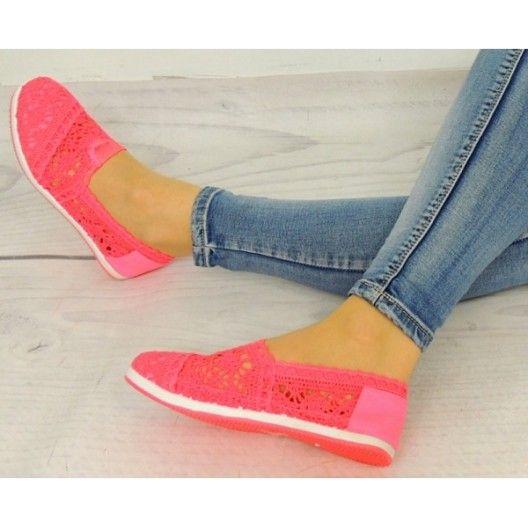 Letní dámské espadrilky růžové barvy - manozo.cz  455d1bc738