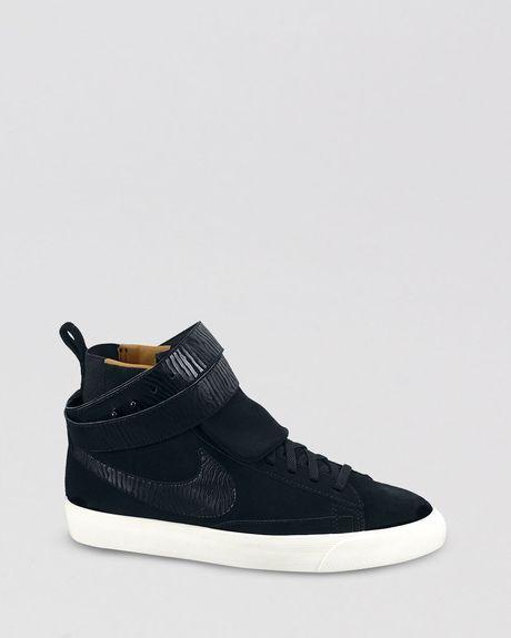 newest feacc c2f30 Nike Black High Top Sneakers Blazer Twist Suede