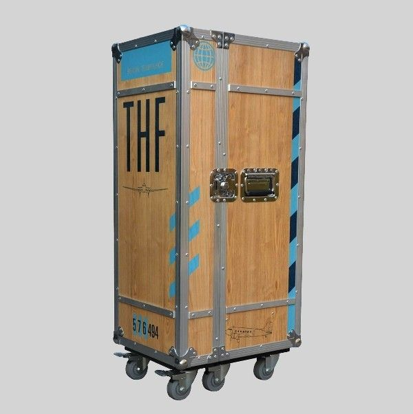 Multicase Wood Tempelhof Flightcase Design Schrank Sperrholz Design Schrank Rollcontainer