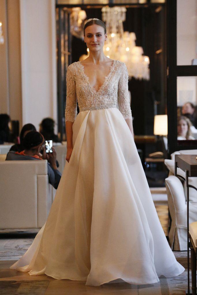 Monique lhuillier bridal spring 2016 monique lhuillier for Monique lhuillier wedding dress designers