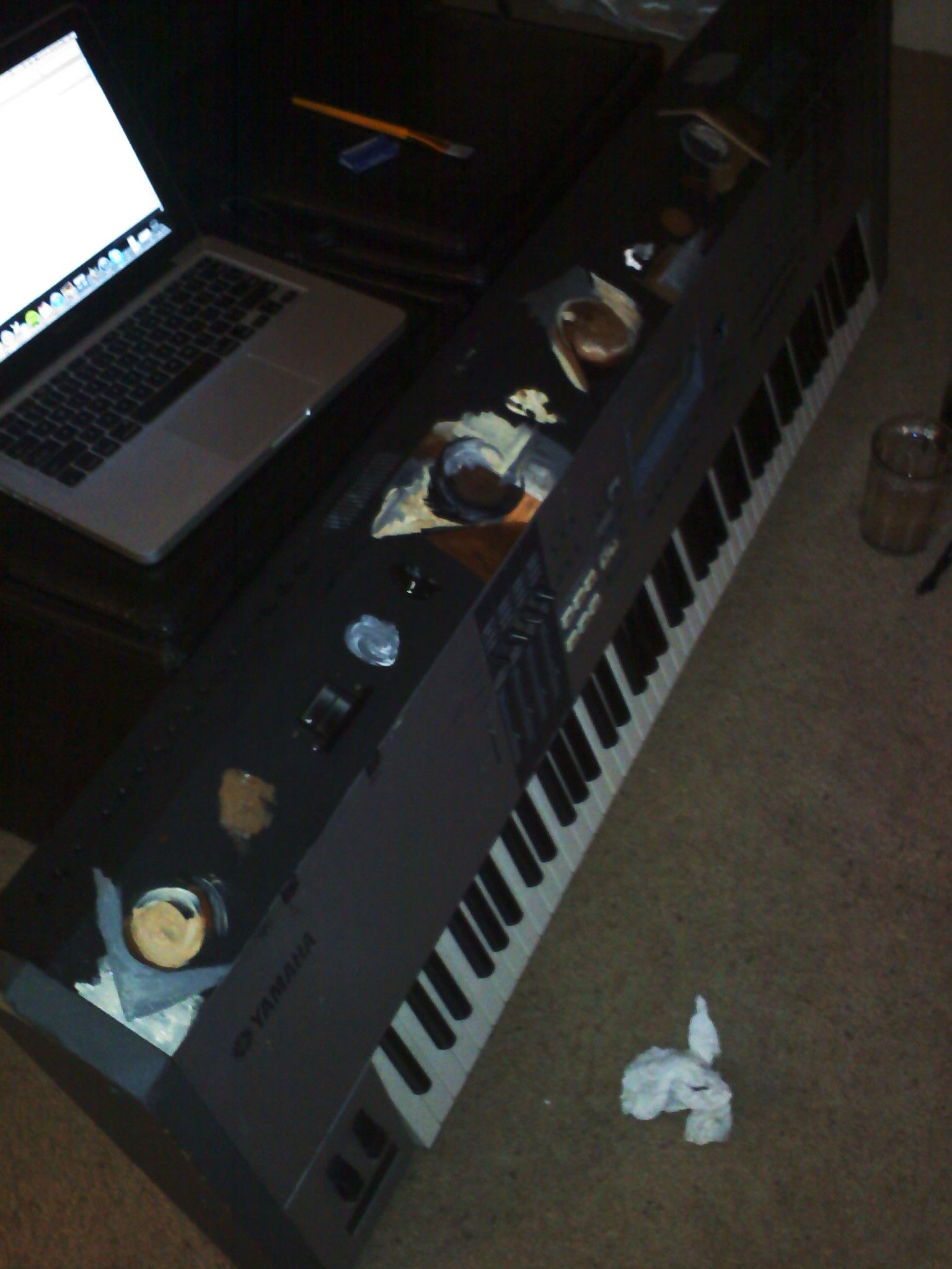 Painting in process. (Matthew Taylor Custom Painted Keyboard)