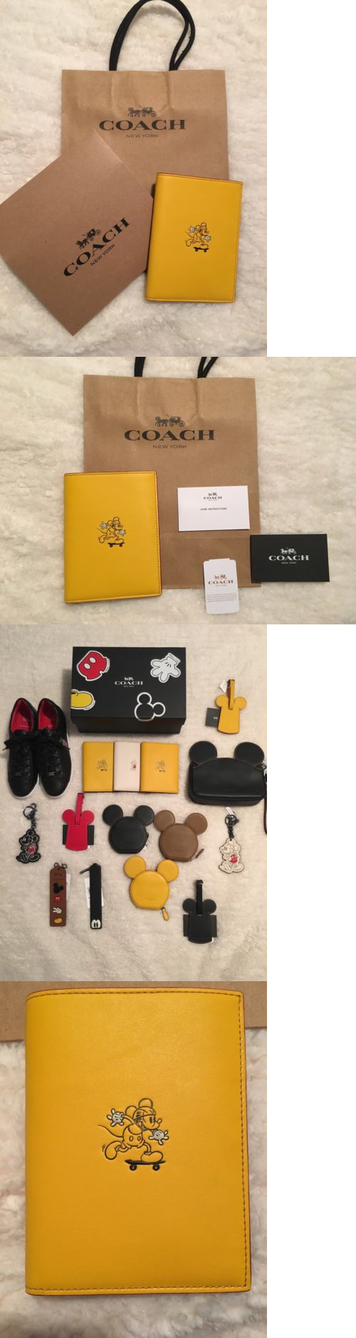 Passport Holders 169288: Nwt Coach Mickey Passport Case In Glove Calf Leather-Banana (Yellow) Limited Edi -> BUY IT NOW ONLY: $135 on eBay!