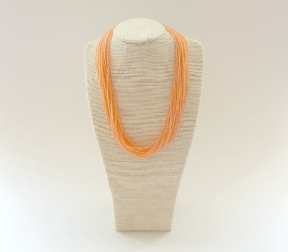 Coral Multistrand Necklace // Seed Bead Necklace by gildedunicorn, $18.00