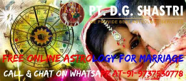 Free Online Love Astrology For Marriage Call Now @ +91
