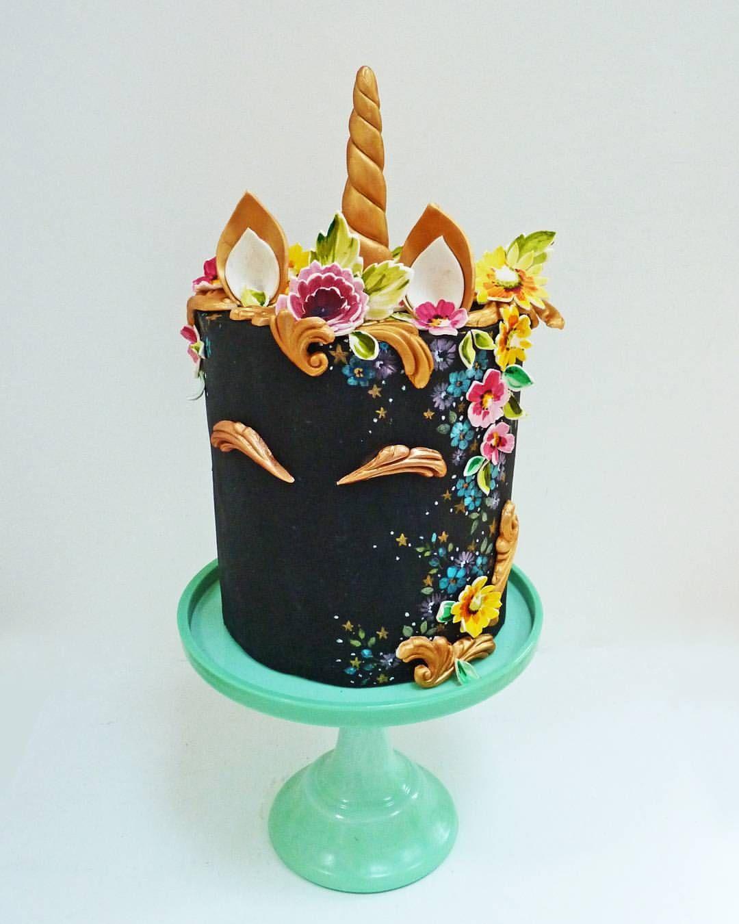 Best 25 Black Unicorn Cake Ideas On Pinterest Unicorn