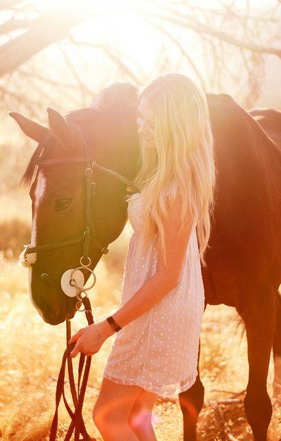 Woman & Horse + Lighting