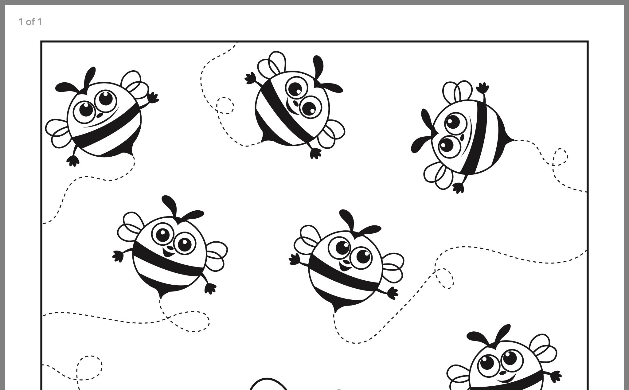 Busy Bees Coloring Page
