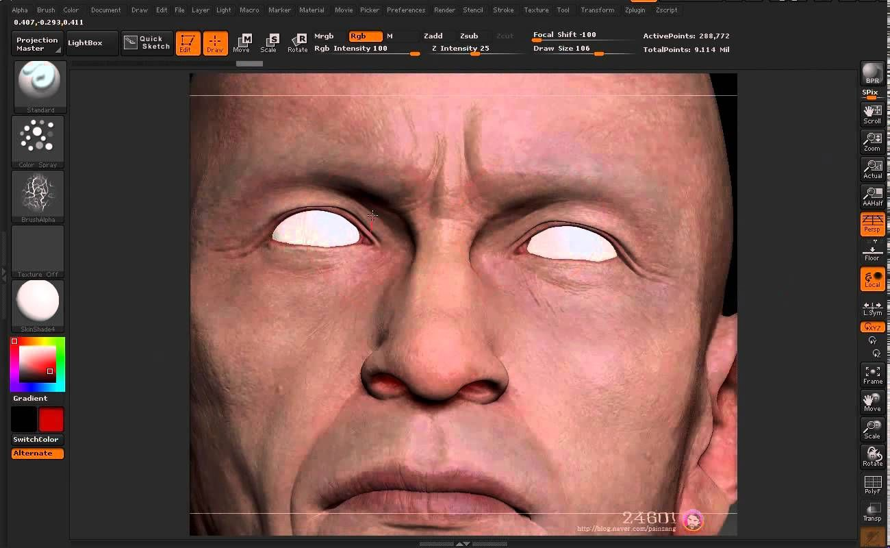 Les Miserables     Work in Zbrush polypaint   Content