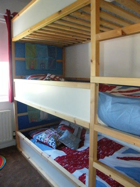 Space Saving Kids Triple Decker Beds For The Home Pinterest