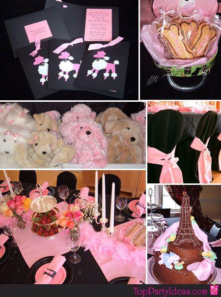 Pink Poodle Party Ideas For Birthdays Showers 1st Birthdays Dog Themed Parties Dog Birthday Party Paris Theme Party Decorations