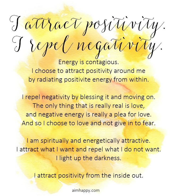 An Affirmation To Attract Positive Energy And Live In Joy