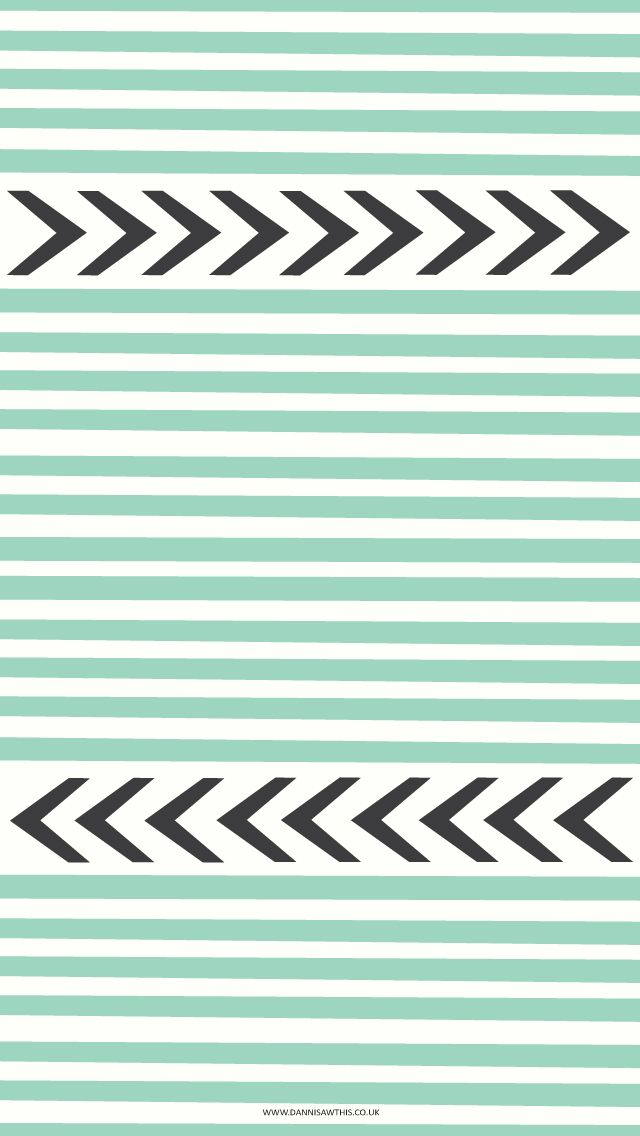 mint stripes black chevron arrows iphone phone wallpaper
