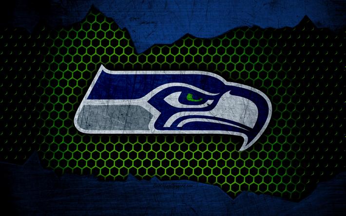 Download wallpapers Seattle Seahawks, 4k, logo, NFL