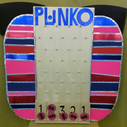 Price Is Right Plinko Game Made Out Of Foam Board For My