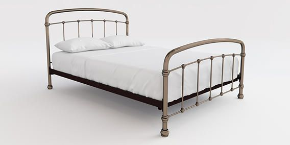 Best Buy Shoreditch Metal Double Bed Metal Copper From The Next 400 x 300