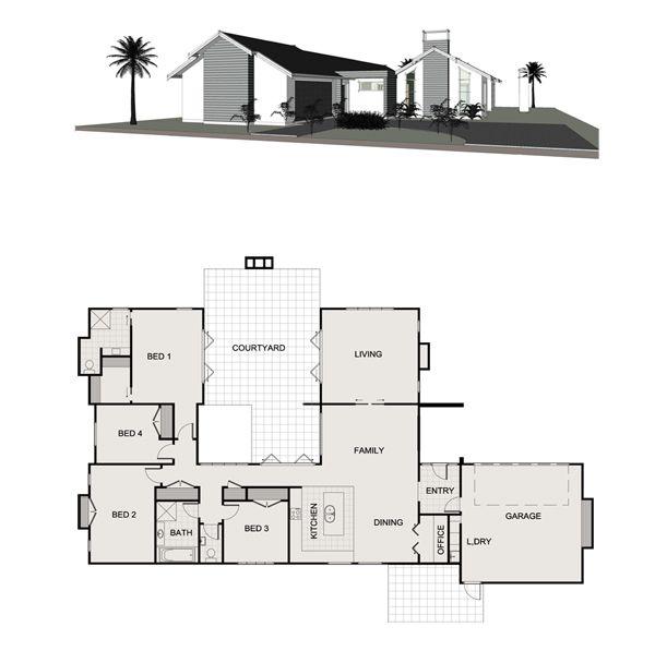 Tresillian Penny Homes U Shaped House Plans Bungalow House Design Duplex House Plans