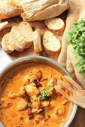 Hähnchenfilets in Tomaten-Frischkäse-Soße | Fräulein Sommerfeld #chickenalfredo