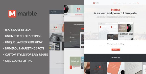 Marble - Responsive Moodle Theme - Moodle CMS Themes | Moodle Themes ...