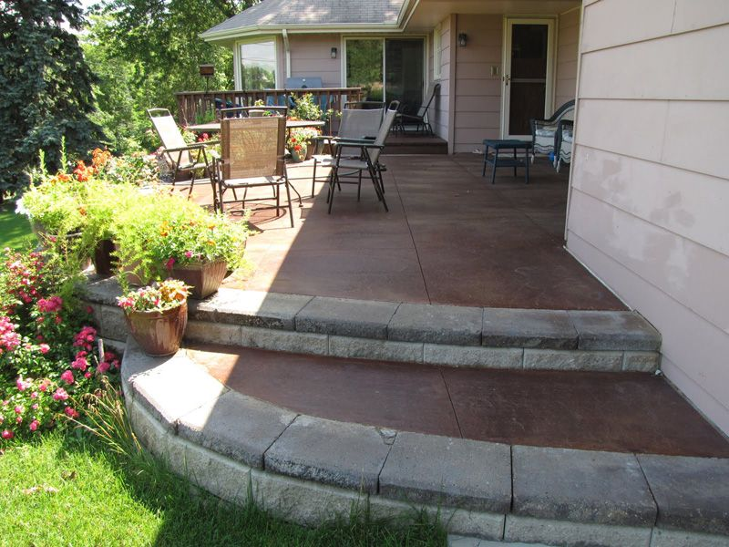 Stained Concrete Patios | Concrete Patios Minneapolis | Stamped Concrete,  Acid Staining .