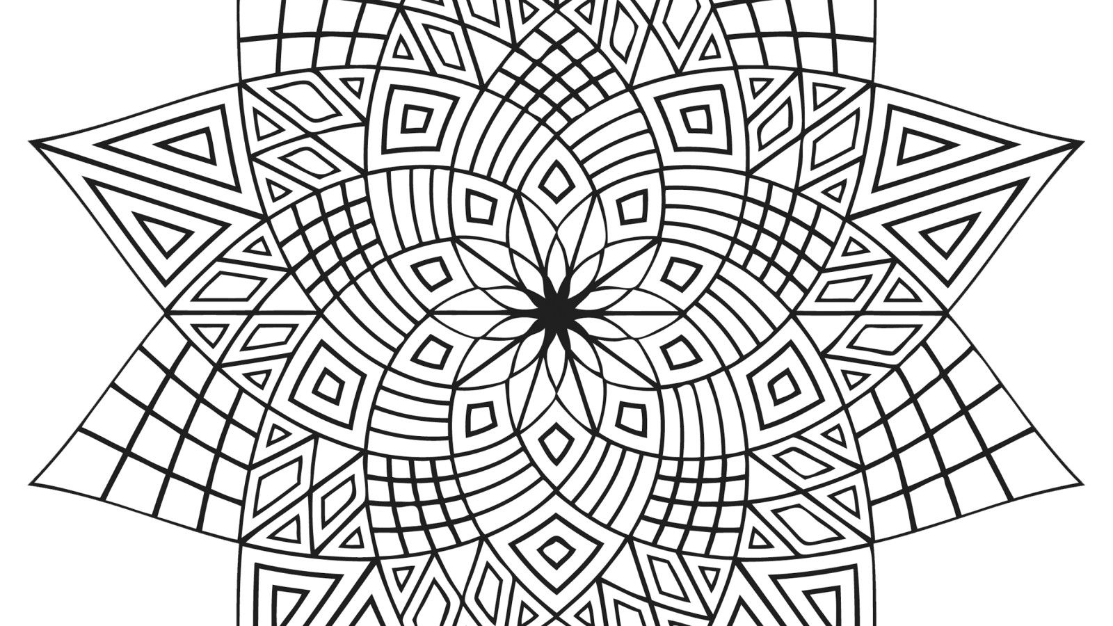 Charmant Islamic Geometric Patterns Coloring Pages | Hagio Graphic