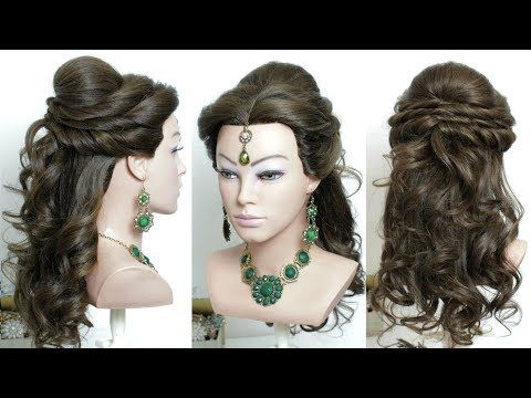Beautiful Hairstyles For Function Easy Wedding Hairstyle Youtube Hair Styles Hair Puff Indian Wedding Hairstyles