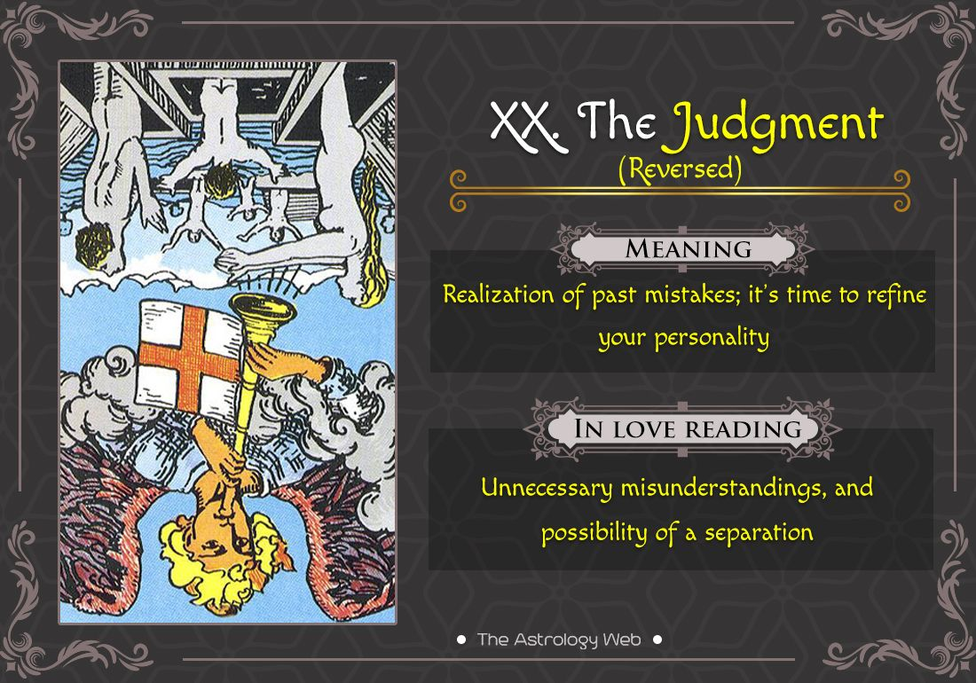 The Judgement Tarot Meaning And Readings In 2020 With Images